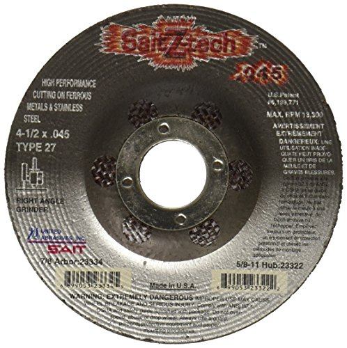 United Abrasives-SAIT 23334 Type 27 4-1/2 x .045-Inch x 7/8-Inch Z-Tech High Performance Cutting Wheels, 50-Pack ()