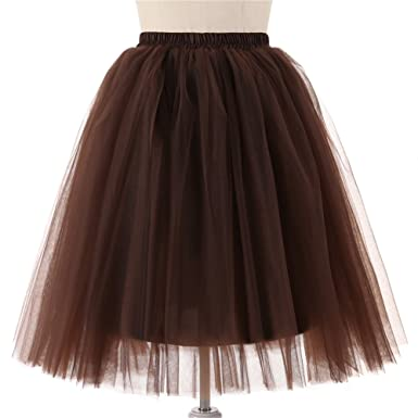 Comall Damen Kleidung Tüllrock Petticoat Unterrock Tutu Rock Party ...