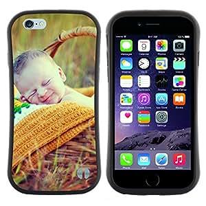 "Hypernova Slim Fit Dual Barniz Protector Caso Case Funda Para Apple (5.5 inches!!!) iPhone 6 Plus / 6S Plus ( 5.5 ) [Naturaleza lindo picnic de primavera Madre""]"
