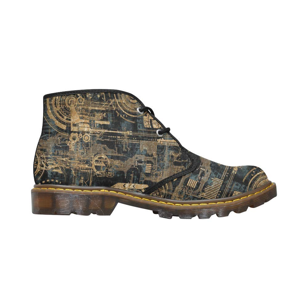 Unique Mens Canvas Chukka Combat Boots