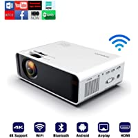SOTEFE® Android OS WiFi Projector Portable -Bluetooth Mini Video Projector 1080P Full HD Projector Support 4K Download…
