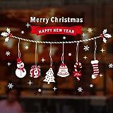Natale Vetrofanie Decorazione Della Decalcomania Della Home Christmase Decor Wallpaper