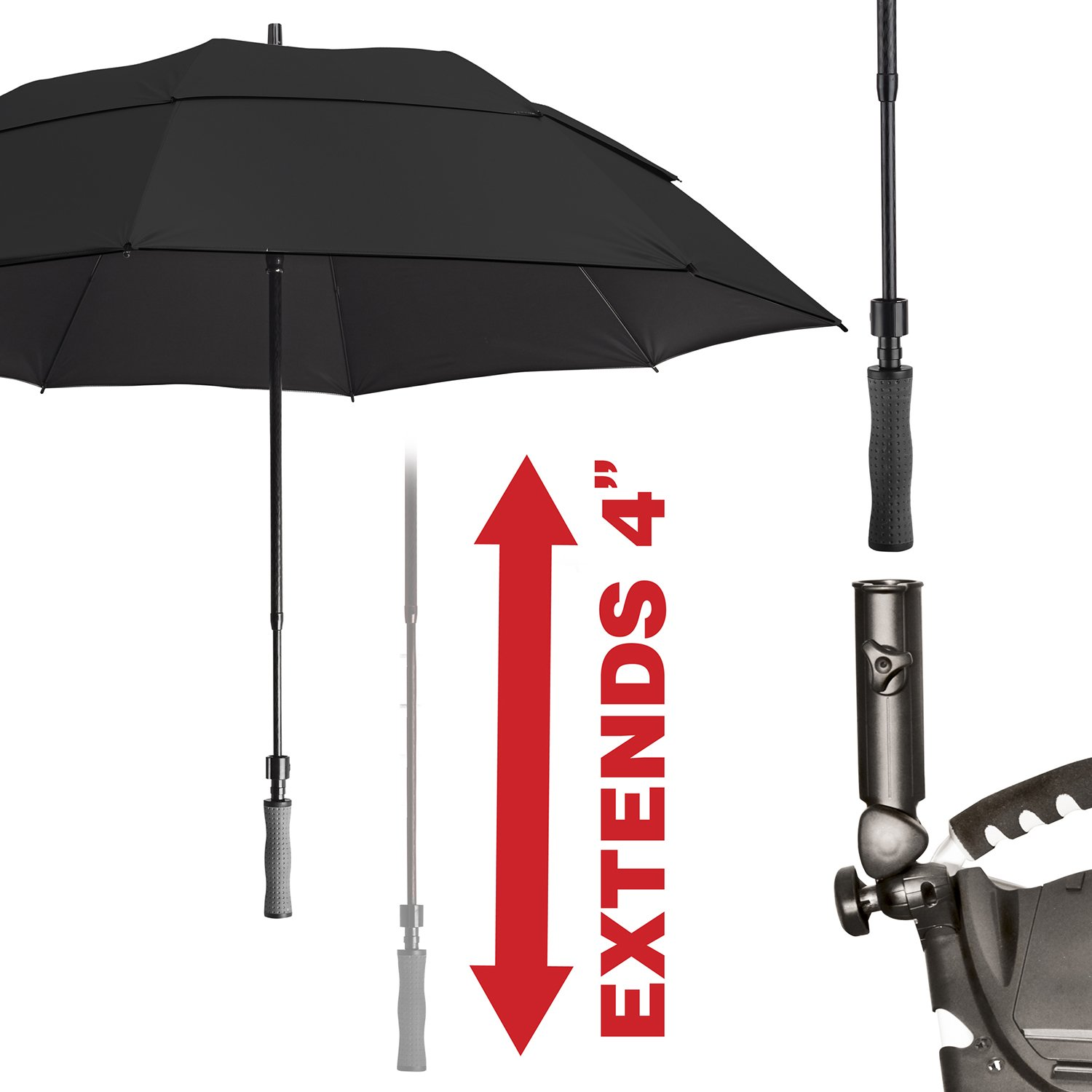 Bag Boy Golf- 62 Telescoping UV Umbrella