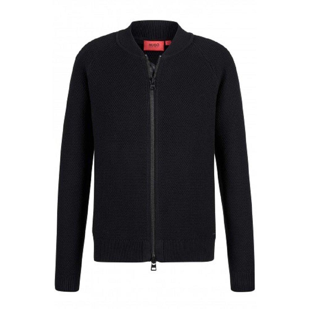 Hugo Boss New Red Label Virgin Wool BLND Popcorn Knit SAIO Sweater Jacket SZ M 5032362700100