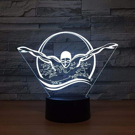 wangZJ 3D / 7 Color Lámpara Visual Led Night Lights/Kids ...