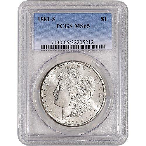 1881 S US Morgan Silver Dollar $1 MS65 PCGS