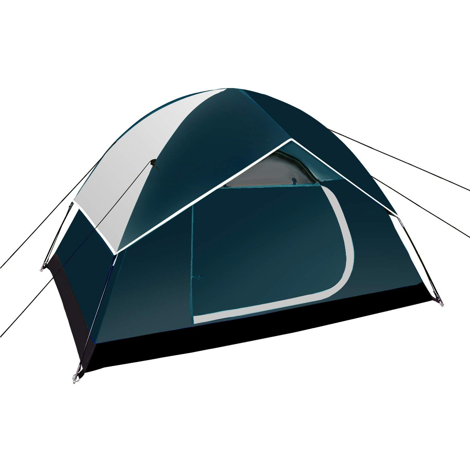 Neewer Backpacking Tents Outdoor Sports Tent - Compact Lightweight 2 to 3 person Pop-up Shelter for Camping Hiking Beach Park Mountain Area with Zippered Carrying Bag, 83x59x47 inches(Dark Blue/Gray) [並行輸入品] B07R4WPJL5