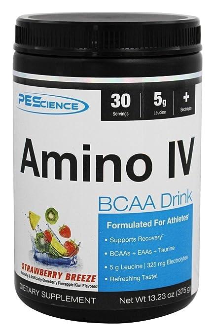 PEScience - Brisa amino de la fresa de la bebida del intravenoso BCAA - 13,