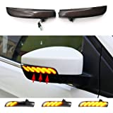 ruihe Smoked Lens Dynamic Sequential Blink LED Side Mirror Turn Signal Light Strip Assembly Compatible With Fit for Ford…