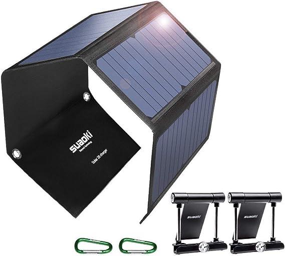 Amazon.com: SUAOKI Cargador solar portátil de carga rápida ...