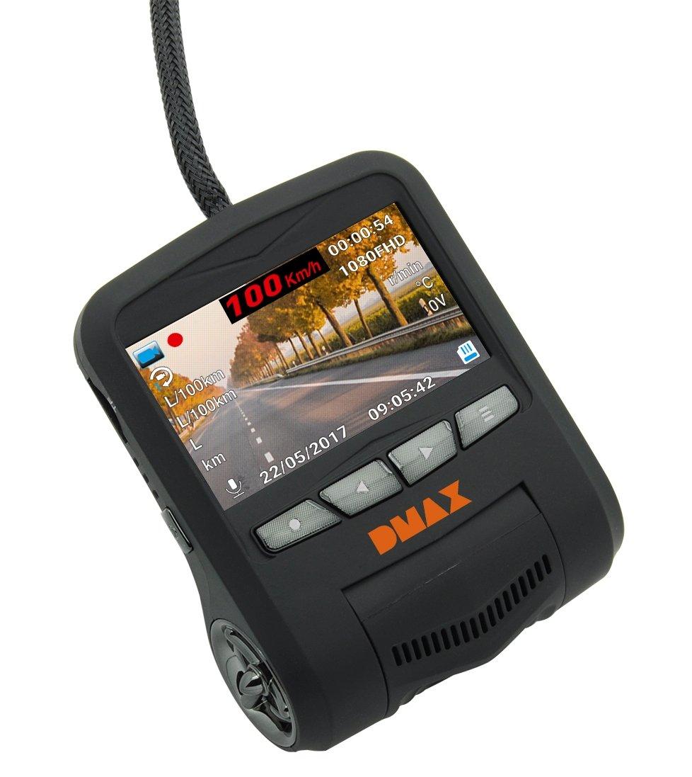 DMAX Full HD Dash-Kamera mit Fahrzeug Datenübertragung per OBD Anschluss 3320011