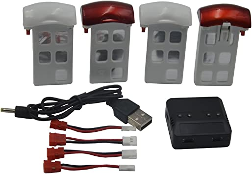Amazon.com: blomiky 4 3.7 V 600 mAh batería y 1 cargador ...