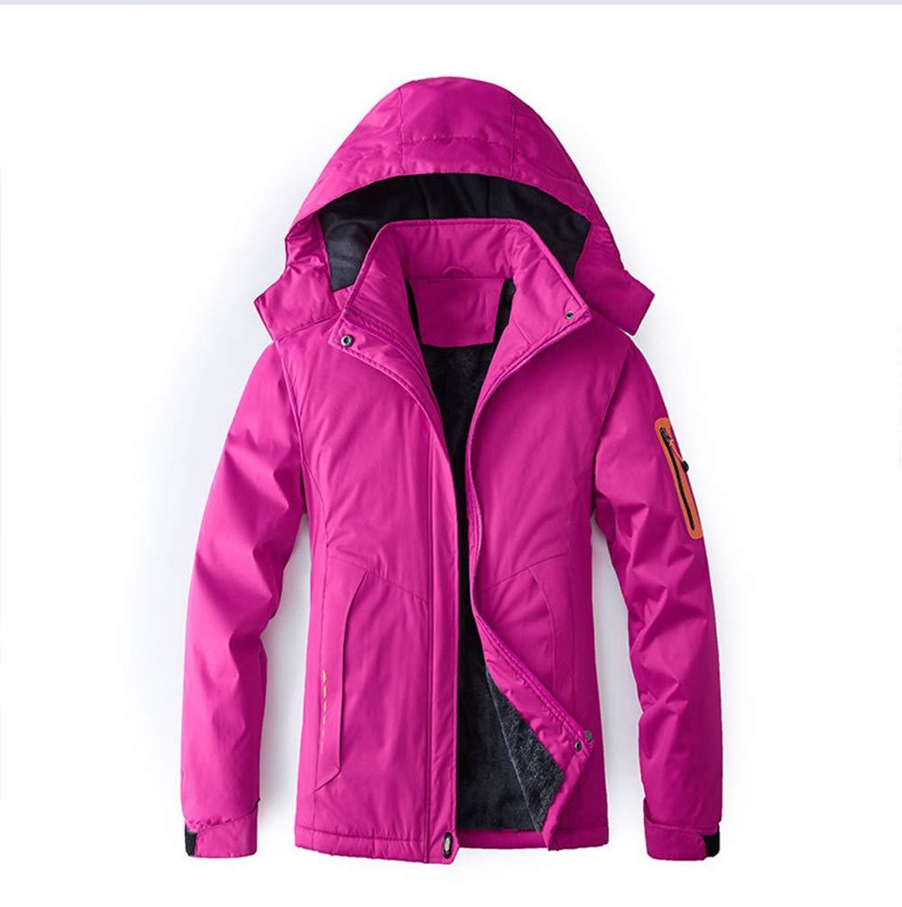 C XXXXL ZHANGZHIYUA Coupe-Vent extérieur de Manteau d'hiver isolé par Manteau d'hiver de Veste de Montagne imperméable de Ski de Femmes