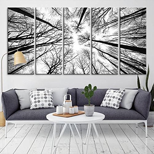 Amazon.com: Dry Tree Branches Wall Art Canvas Print - Forest Canvas ...