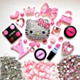 LOVEKITTY Z398 DIY 3D Blinged Out Kitty Bling Cell Phone Case Resin Flat back Kawaii Cabochons Deco Kit / Set