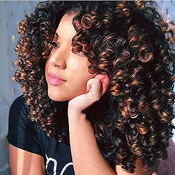 Amazon Com Weite Brazilian Natural Spiral Curls Short
