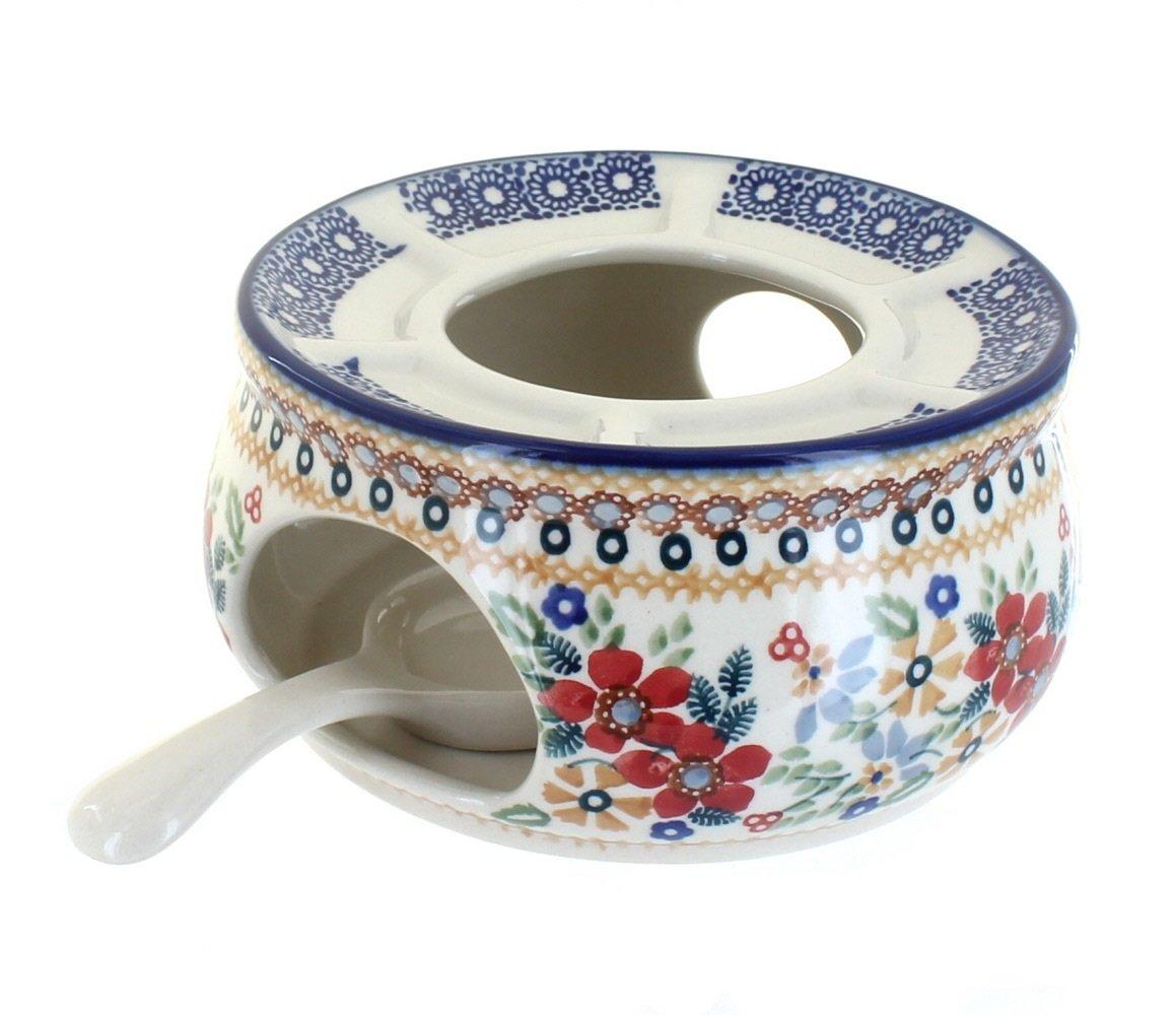 OKSLO Po pottery red daisy teapot warmer