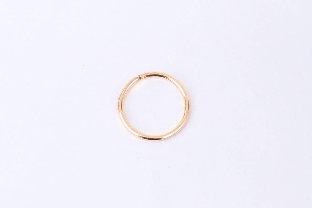 Nose Hoop in 20 gauge 22k yellow gold 9mm 20g Solid 22K Gold Open Nose Ring
