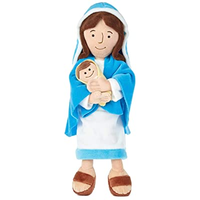 """Hallmark Mother Mary Holding Baby Jesus Stuffed Doll, 12.75"""": Toys & Games"""