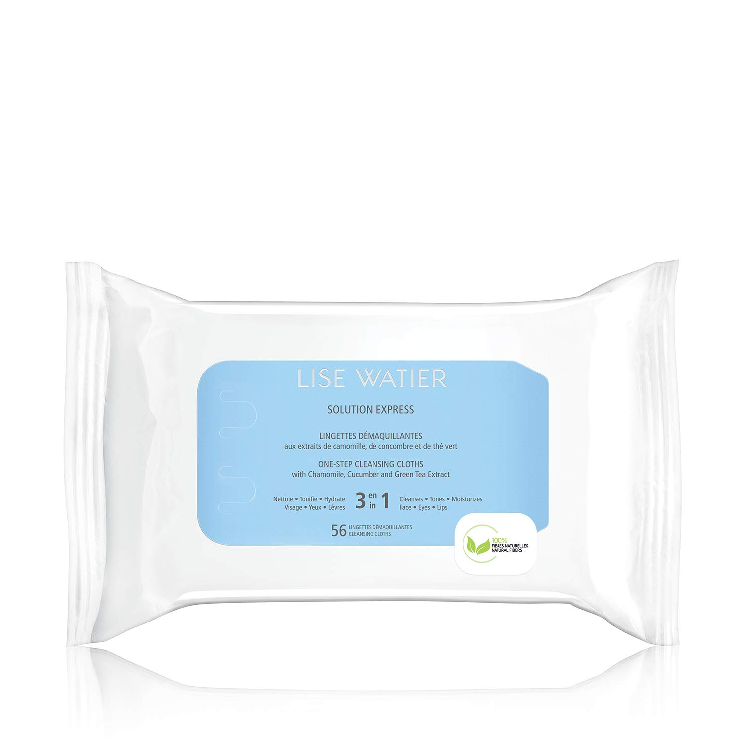 Lise Watier Solution Express One-Step Cleansing Cloths, 56 cloths