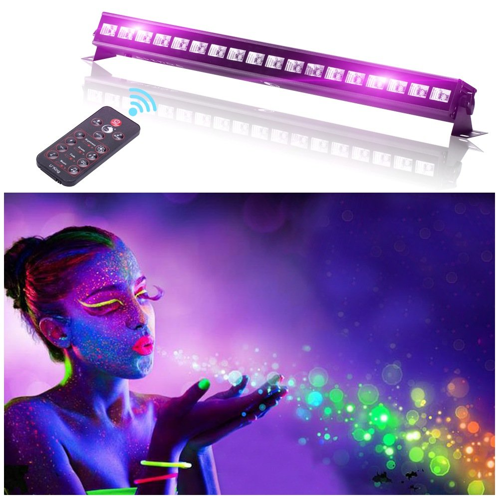 UV LED Black Light 3Wx18 LED Bar Lighting for Parties Halloween Club Metal Housing by U`King (54.00) by U`King (Image #2)