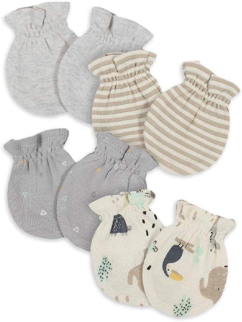 Gerber Organic Baby Boy Safari Mittens 4 pack