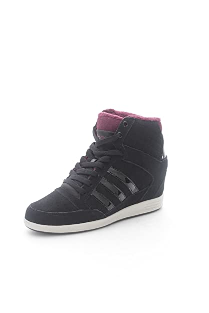 3fad60ed461f0d ... czech adidas neo super wedge sneakers black women shoes f98650 black 6  uk ba7db ae22c