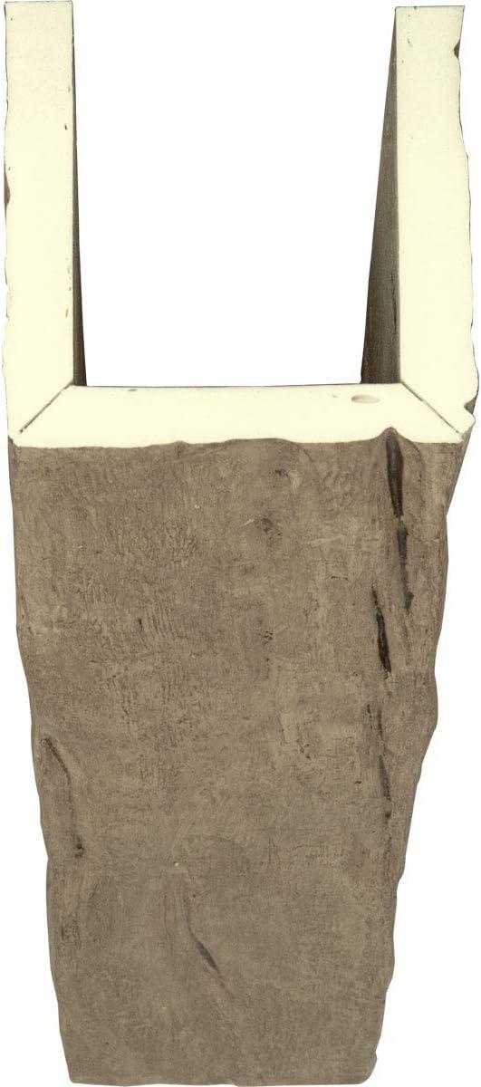U Riverwood Endurathane Faux Wood Ceiling Beam, 4W x 8H x 12L, Puritan Pine Ekena Millwork BMRW3C0040X080X144PP 3-Sided