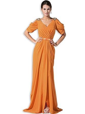Kleid passgenau A Linie Kleid Chiffon-Geldbörse Abendanzug Kleid ...