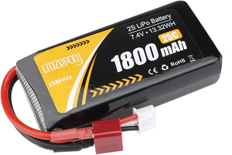 Bateria    2S Lipo 7.4V 1800mAh 25C T