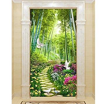 Lieblich All Die Tür Aufkleber Selbstklebende Landschaft Schlafzimmer Wohnzimmer  Schrank Schiebetür Dekoration Aufkleber 125 X 70 Cm