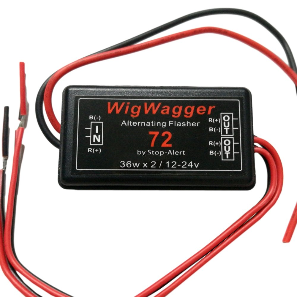 Stop Alert Wigwagger 72 Led Electronic Wig Wag Figure 5 Is The 2 Alternating Flasher Circuit Using Two Relay Most Powerful And Waterproof Emergency Police Ambulance Universal