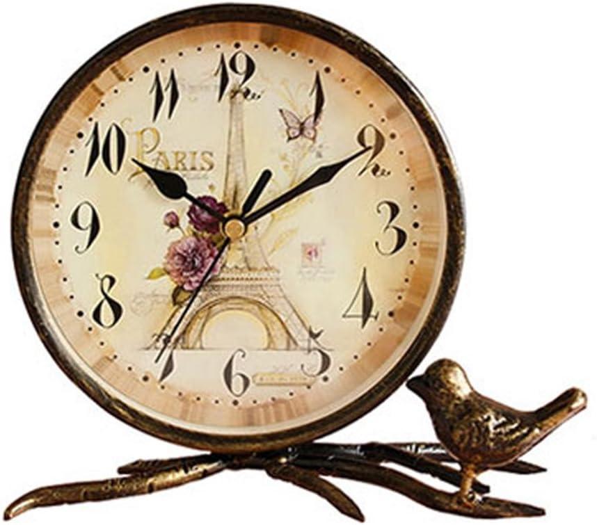 S.W.H Simple de Bronce Decorativa de Mesa de Cobre Reloj de Hierro Torre Eiffel