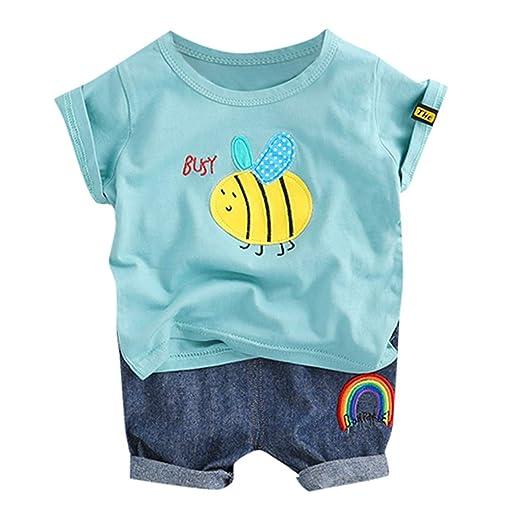 2b39331a23b1c Amazon.com: MOVEmen T-Shirt Toddler Baby Kids Boys Cartoon Bee Tops ...