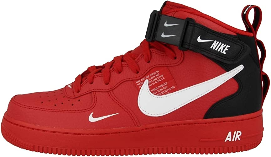 nike air force 1 07 rosse uomo