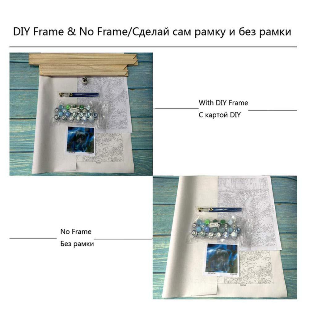shidk Dipingere con I Numeri Pittura A Olio su Tela Appesa con Cornice Digitale per La Decorazione Domestica Fai da Te 40 50 DIY Frame