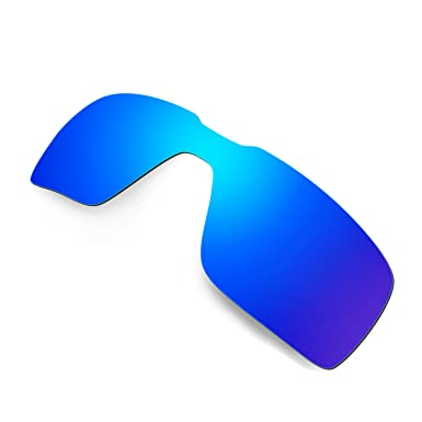 3888254c0a8 Amazon.com  Hkuco Mens Replacement Lenses For Oakley Probation Sunglasses  Blue Black Polarized  Clothing