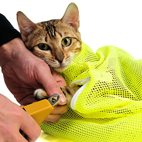 ThinkPet-Multifunction-Polyester-Mesh-Grooming-Bath-Bag-No-Scratching-Biting-Cat-Restraint-Bag-Large-Neon-Yellow