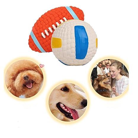 AZX Perros Juguete Pelota Suave Perro Mascota Squeaky Pelota de ...