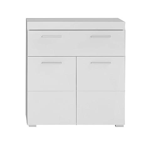 Trendteam Muebles, Madera, Blanco Brillante, 73 x 79 x 31 cm