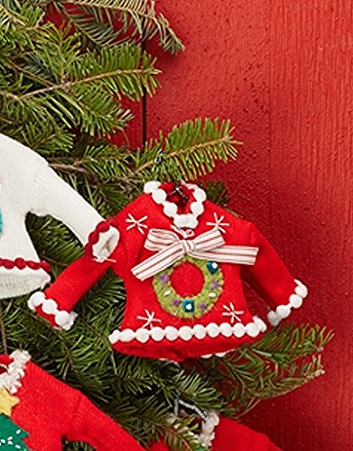 Two's Company Pretty Ugly Sweater Christmas Ornament with Wreath