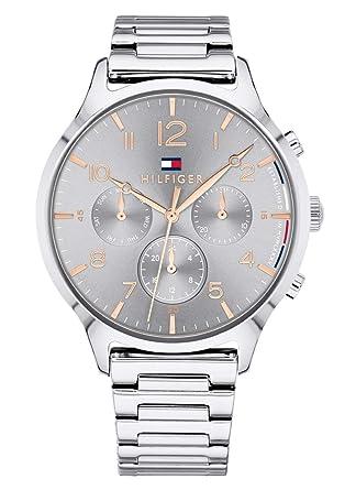 Tommy Hilfiger Reloj Multiesfera para Mujer de Cuarzo con Correa en Acero Inoxidable 1781871: Tommy Hilfiger: Amazon.es: Relojes
