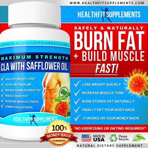 Supplément CLA - Perdre la graisse du ventre rapide - CLA 1000mg service 3000mg / Day-construire le muscle perdre la graisse - CLA Avec carthame - Lose Fat Arm - CLA gélules - Perdre Retour Fat - B2G1 - B3G2 - 100% Satisfait ou Remboursé