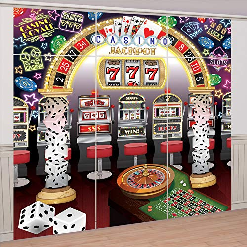 Roll The Dice Casino Deluxe Scene Setter Party Supplies Decorations ()