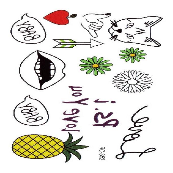 Etiqueta engomada del tatuaje Pequeña pareja fresca Rose English ...
