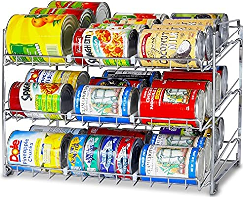 Kitchen Can Organizer Amazon simplehouseware stackable can rack organizer chrome amazon simplehouseware stackable can rack organizer chrome home kitchen workwithnaturefo