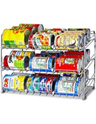 SimpleHouseware Stackable Can Rack Organizer, Chrome