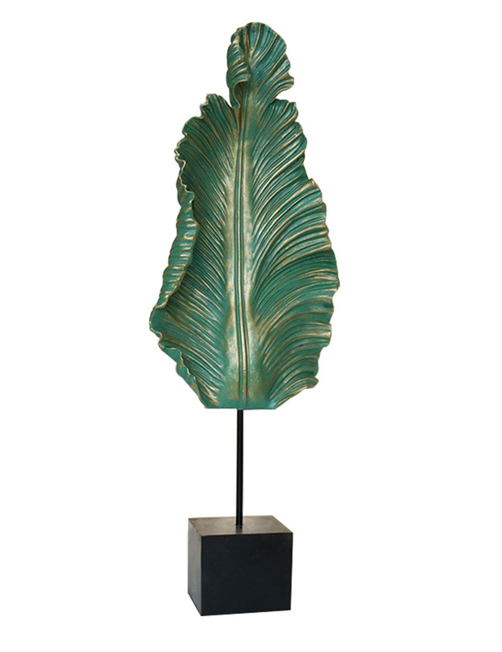 ヨーロッパのレトロなバナナの葉の装飾家の居間テレビの内閣のオフィスの装飾の表示幸運の工芸品 (サイズ さいず : 02) 2  B07HB18RJF