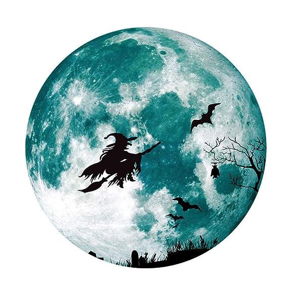TwoCC Decoraciones de Halloween, pegatinas de brujas de escoba de ...