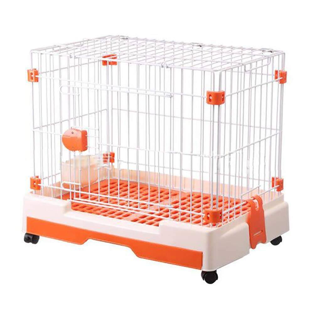 orange Portable Pet Supplies Single Door, Pet Fence Dog Cat Cage, Exercise Yard Kennel for Small Pets (color   orange)